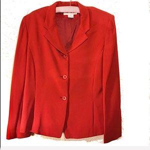 Jones New York red buttonup blazer size 14 NWT